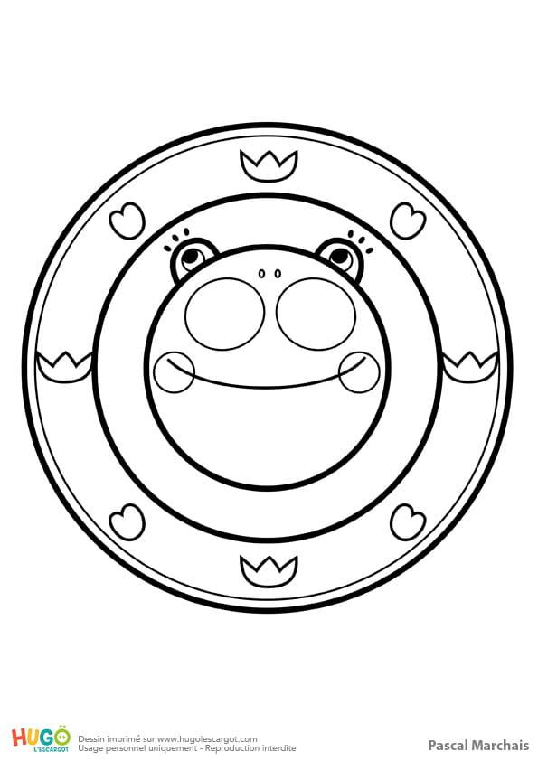 Mandala grenouille, pour les petits