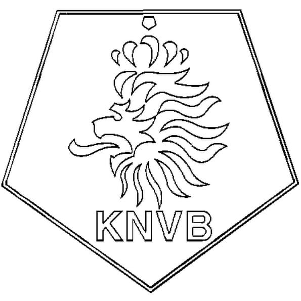 Coloriage Pays Bas Football en Ligne Gratuit à imprimer