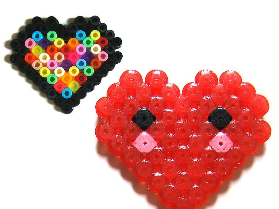 Coeurs en perles à repasser