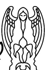 Coloriage Signe de la Vierge