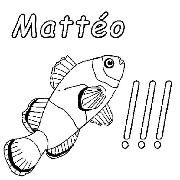 Dessin Mattéo a colorier