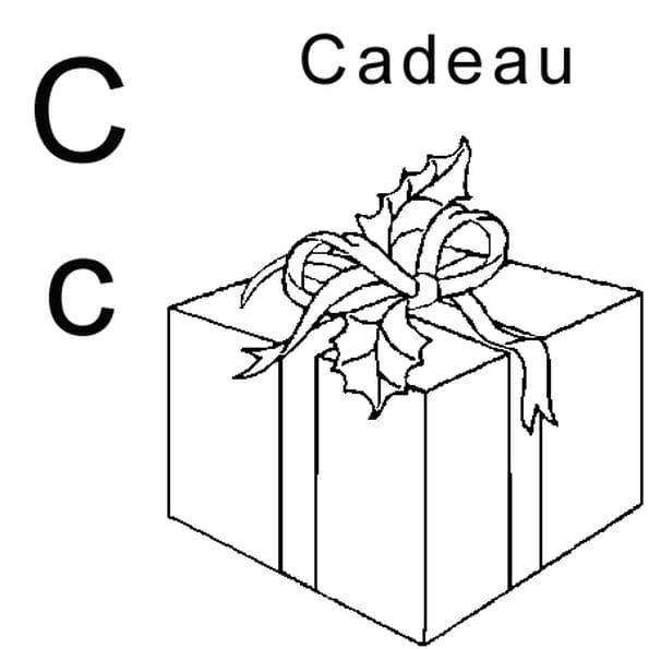 Lettre c comme cadeau coloriage lettre c comme cadeau en - Cadeau coloriage ...