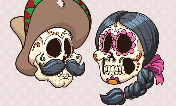 Coloriages Squelettes et têtes de mort