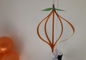 Suspension citrouille pour Halloween [VIDEO]
