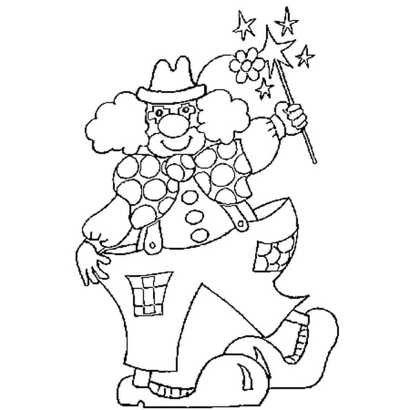Coloriage le clown en ligne gratuit imprimer - Coloriage en ligne a imprimer ...