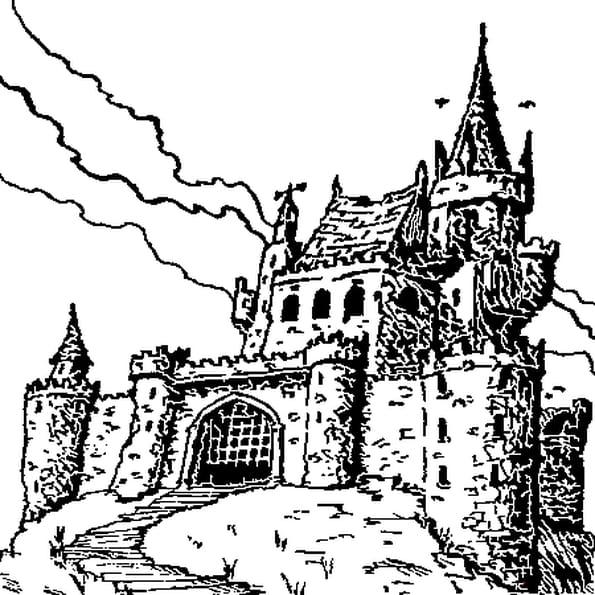Dessin Château Fort a colorier