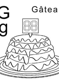 lettre G comme gâteau