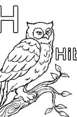 Coloriage H comme Hibou