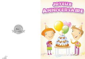 Carte anniversaire Amis