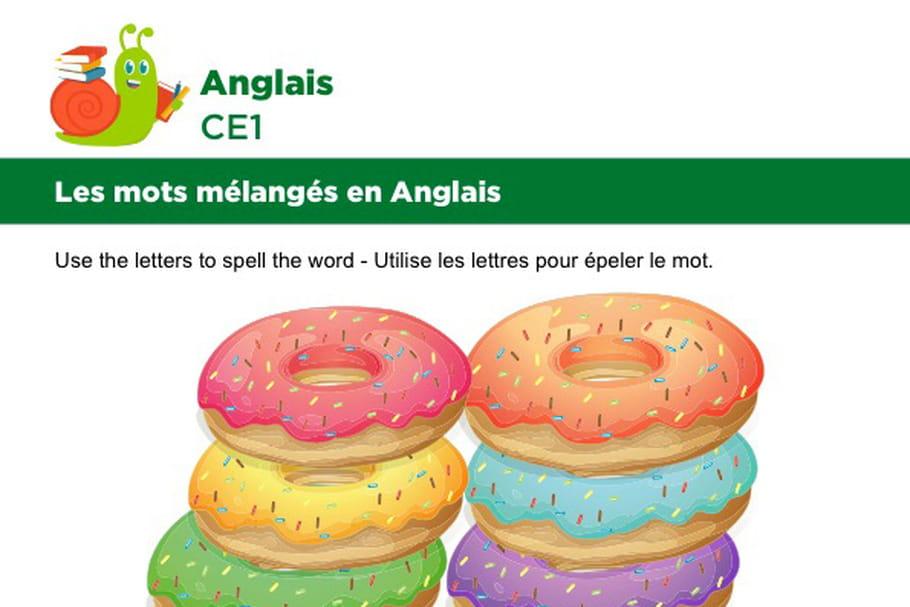 Les mots mélangés en Anglais, exercice 10