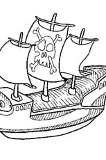 Coloriage Bateau de Pirate