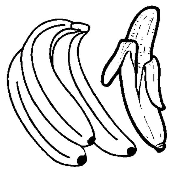 Dessin Banane a colorier