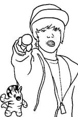 Coloriage De Justin Bieber en Ligne Gratuit à imprimer