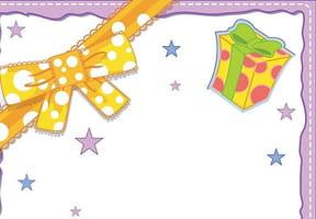 Papiers à lettres fêtes et ballons