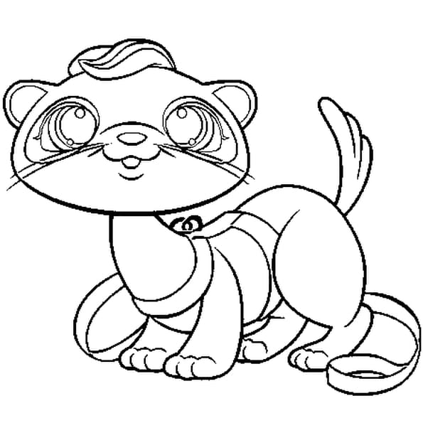 Coloriage pet shop loutre en ligne gratuit imprimer - Coloriage pet shop ...