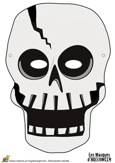 masque de squelette pour halloween. Black Bedroom Furniture Sets. Home Design Ideas