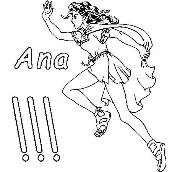 Dessin Ana a colorier