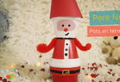 Père-Noël en terre cuite