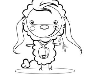Mouton et cloche Pâques