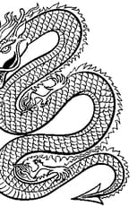 Coloriage Dragon de Chine