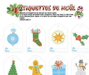 Étiquettes pour cadeaux de Noël