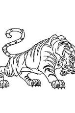 Coloriage En Ligne Gratuit Tigre.Coloriage Tigre A Dents De Sabre En Ligne Gratuit A Imprimer