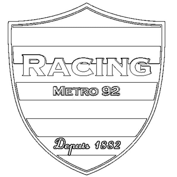 Dessin Racing a colorier