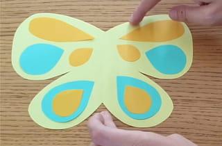 Étape 3: décorer les ailes du papillon
