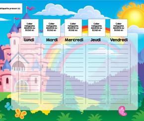 Planning enfant: le château de princesse