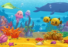 Coloriages poissons tropicaux