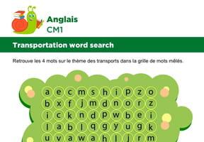 Apprendre des mots en Anglais, les transports