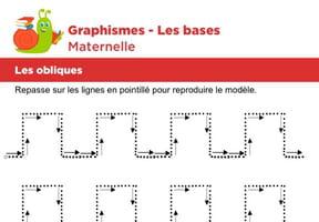 Les bases du graphisme, les traits horizontaux et verticaux niveau 3