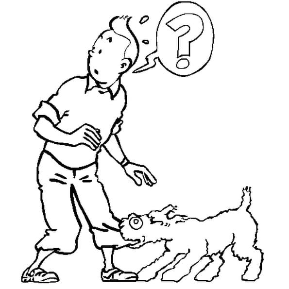 Coloriage Bateau La Licorne Tintin.Coloriage Tintin Et Milou En Ligne Gratuit A Imprimer