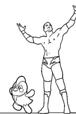 Coloriage Catch Randy Orton
