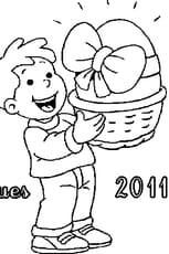 Coloriage Pâques 2011