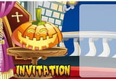 Carte invitation Halloween citrouille marrante