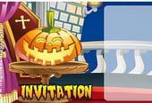 Carte invitation Halloween citrouille marrante