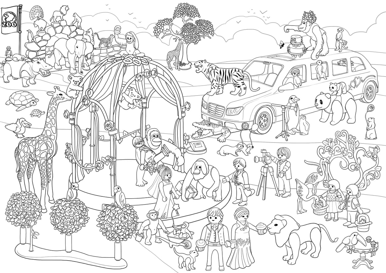 Coloriage Cache Cache Playmobil Mariage