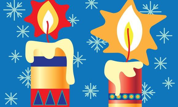 Coloriage Bougies de Noël