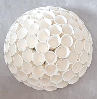 Étape 3: Continuez jusqu'à obtenir une demi-sphère