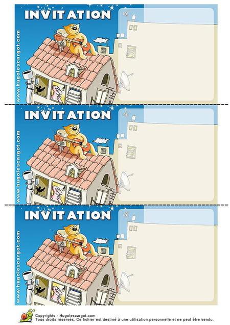 Super Carte invitation anniversaire KY82