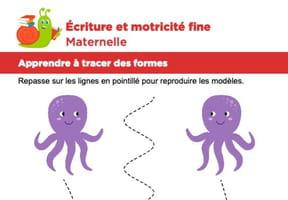 Motricité fine Maternelle, les pieuvres