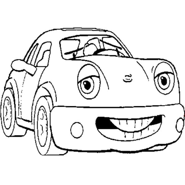 Coloriage auto en Ligne Gratuit à imprimer