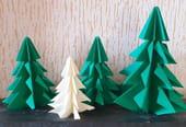 Sapin de Noël en origami, pliage papier [VIDEO]