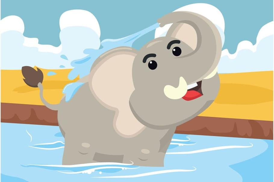 Comptine L'éléphant se douche