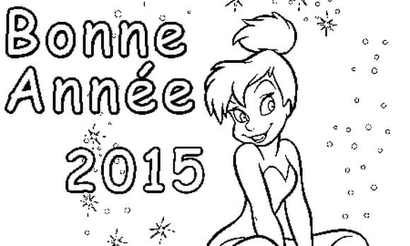 Dessin Bonne Année 2015 a colorier