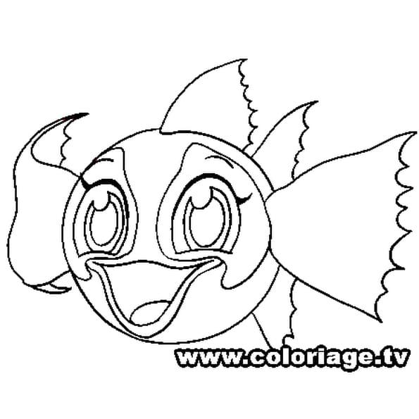 Coloriage Zooble poisson en Ligne Gratuit à imprimer