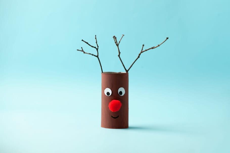 Rennes de Noël: Activités, bricolage et coloriage renne de Noël