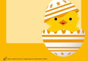 Carte petit poussin de Pâques