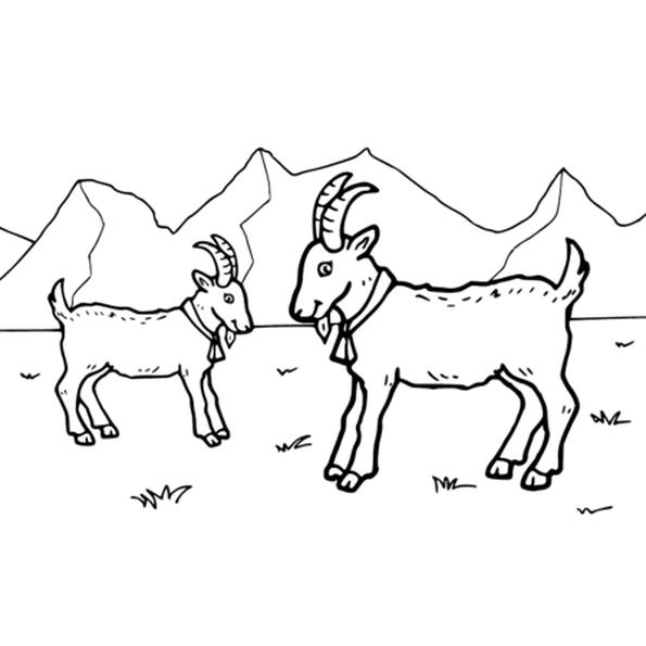 Dessin Chèvres a colorier